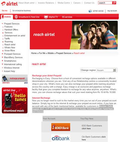 Recharge Airtel Prepaid/Digital TV Online in Easy Steps | India