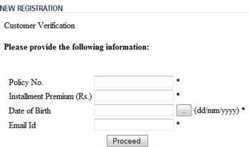 LIC Account Registeration Details