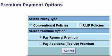 Select Policy Type Confirmation Box