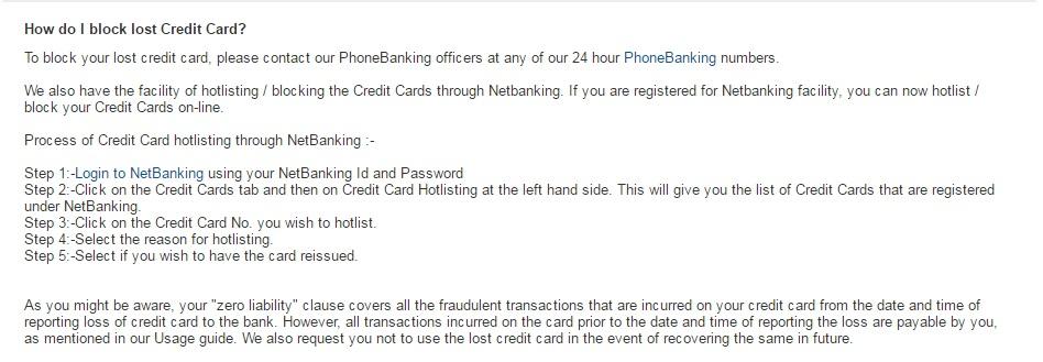 Hdfc bank debit card block customer care number