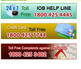 indian overseas bank debit card request